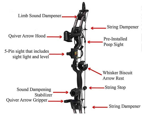 Raptor accessories for survivalist compound bow
