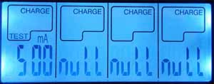 Opus battery charger for all types of batteries display testing