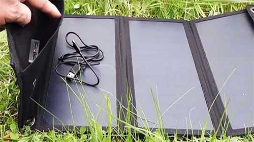 Foldout phone solar charger