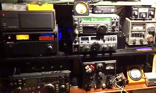 Ham radio setup for long range communications